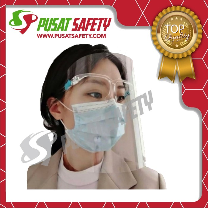 Foto Produk Face Shield Kacamata / Ready Face Shield Kacamata Nagita dari Pusat Safety Online