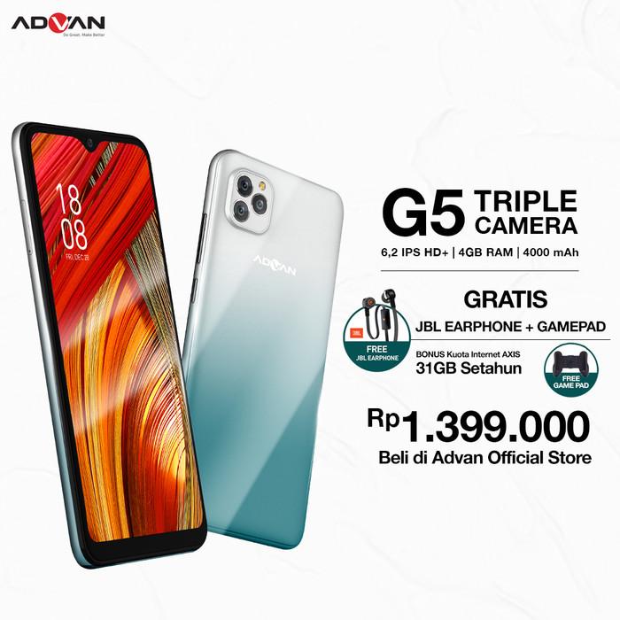 Foto Produk Advan G5 6 Inci 4GB 32GB - Biru dari Advan Official Store