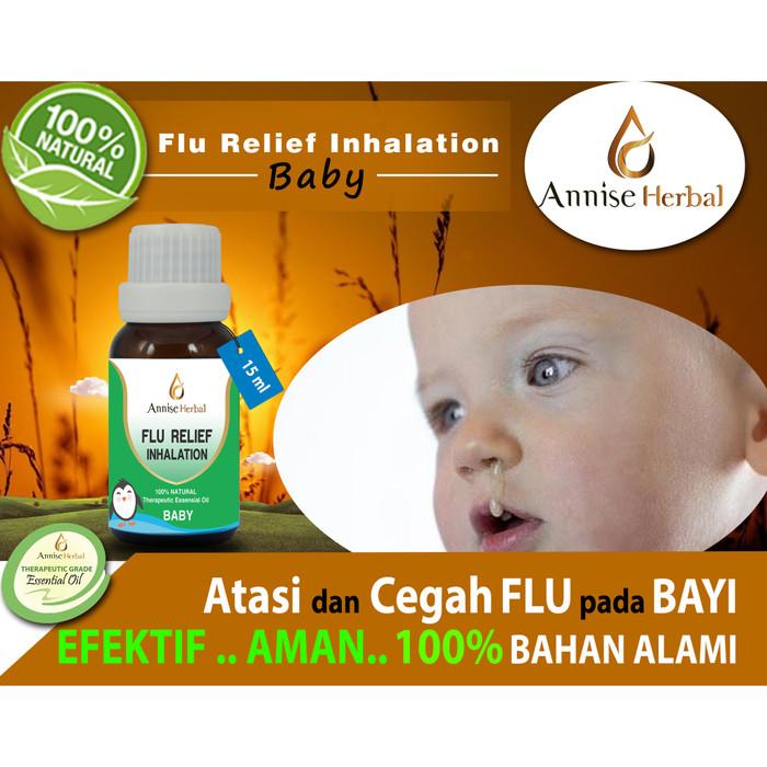 Foto Produk Obat Flu, Anti Bakteri, Kuman, Flu Inhalation for Bayi 15ml dari anniseherbal