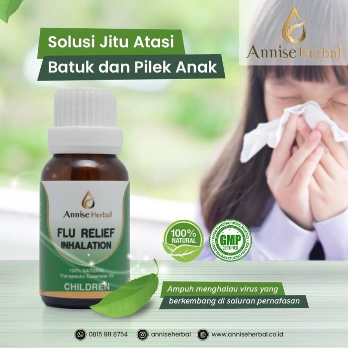 Foto Produk Obat Flu, Anti Bakteri, Kuman, Flu Inhalation for Anak - anak 15ml dari anniseherbal