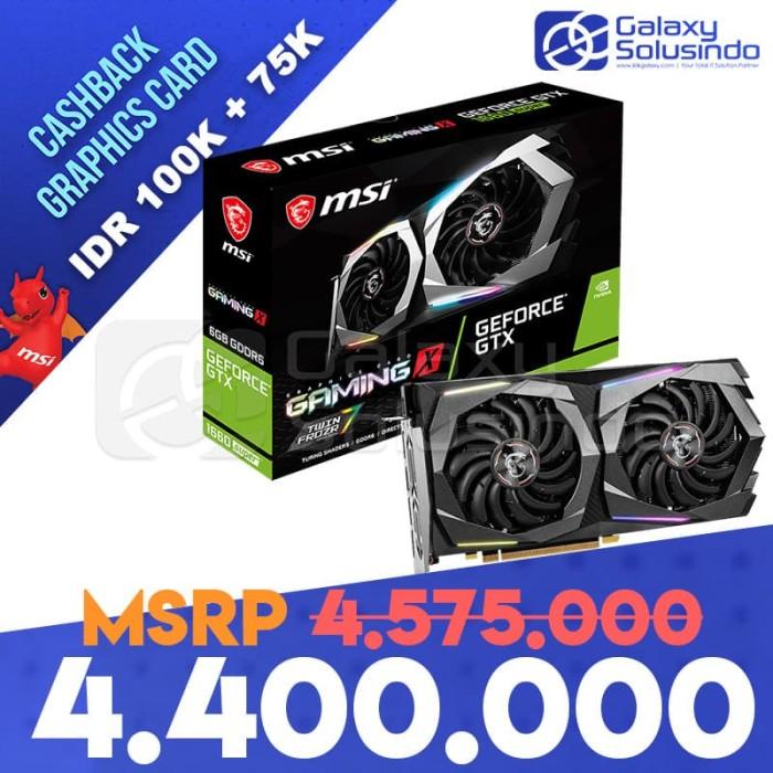 Foto Produk VGA MSI NVidia GeForce GTX 1660 SUPER Gaming X 6GB GDDR6 dari GASOL