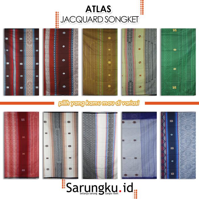 Foto Produk SARUNG ATLAS JACQUARD SONGKET - Cover dari SarungkuID
