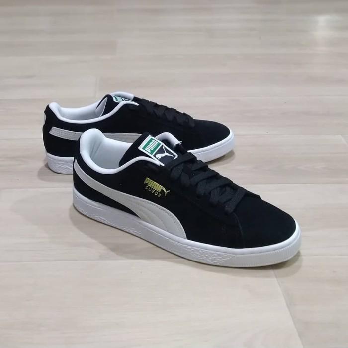 Puma Suede Classic Black White - Hitam