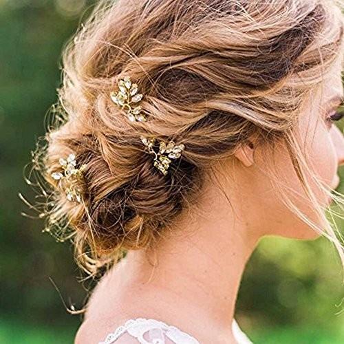 Jual Jovono Bride Wedding Hair Pins Rhinestone Bridal Headpieces Gold Hair Jakarta Utara Exborders Tokopedia