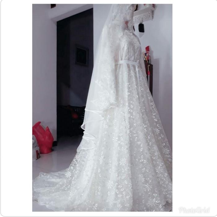 Jual Gaun Pengantin Muslimah Syar I Gaun Akad Wedding Dress Muslimah Jakarta Barat Tia Soflen Tokopedia