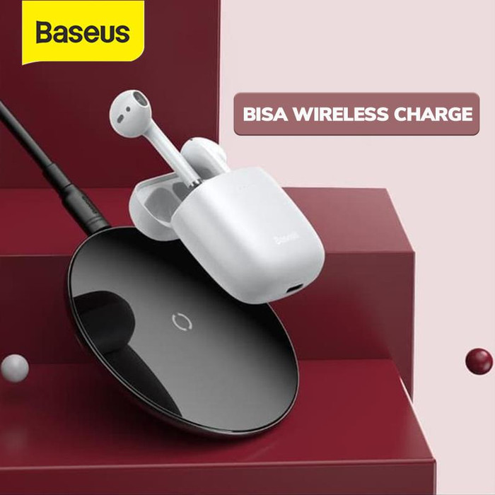 Foto Produk BASEUS TRUE WIRELESS BLUETOOTH EARPHONE MINI EARBUDS TWS W04 PRO V5.0 - wireless putih dari Baseus Official Store