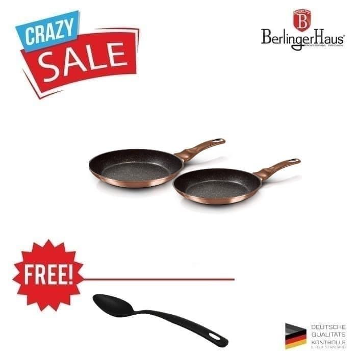 Foto Produk BERLINGER HAUS FRY PAN SET / WAJAN PENGGORENGAN SET 2 DIAMETER 22 & 26 dari Homeco Living Official
