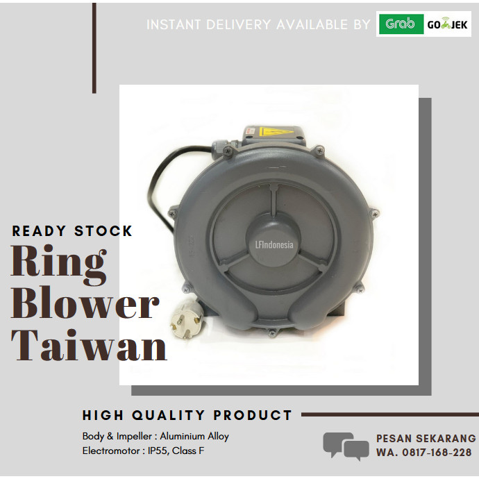 Foto Produk Centrifugal Ring Blower 750 Watt 3 Phase TAIWAN dari lfindonesia