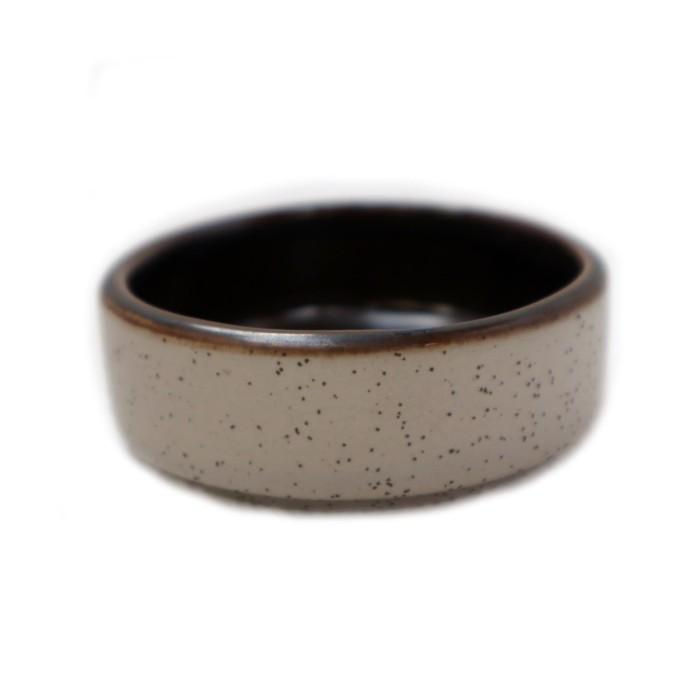 Foto Produk Artisan Ceramic | Grey Speckle Metallic Sauce Dish | Wadah Keramik dari Artisan Ceramic