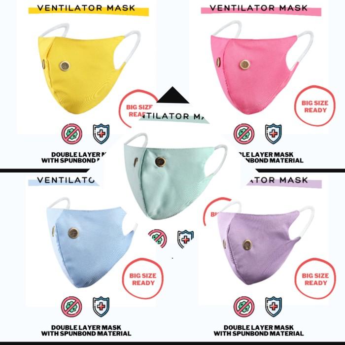 Foto Produk Masker Anti Microba ventilator 2 Ply / Spunbond Mask Earloop Big size dari DsWei Store