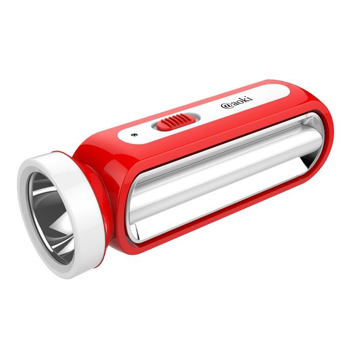 Foto Produk SENTER LED 3W+13SMD TUBE LAMPU SAMPING LHITIUM RECHARGEABLE AOKI 9986L - Merah dari Aoki Official Store