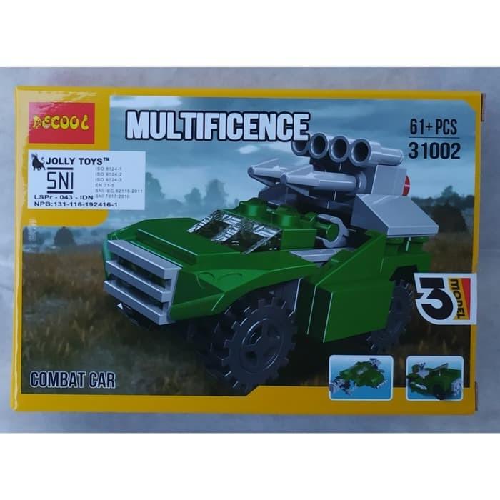Jual Brick Lego Merk Decool 3 In 1 Seri 31002 Multificence Combat Car Kota Depok Fadina Shop Tokopedia