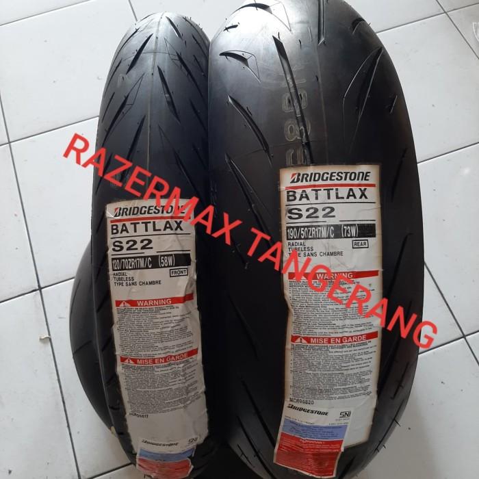 Jual Ban Battlax S22 120 70 17 190 55 17 Zr Bridgestone Radial Hypersport Kota Tangerang Razermax Tokopedia