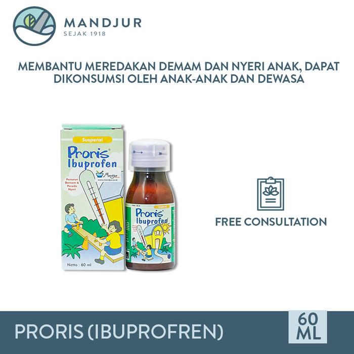 Foto Produk Proris (Ibuprofren) - Obat demam anak, pereda nyeri, sakit gigi dari moermer