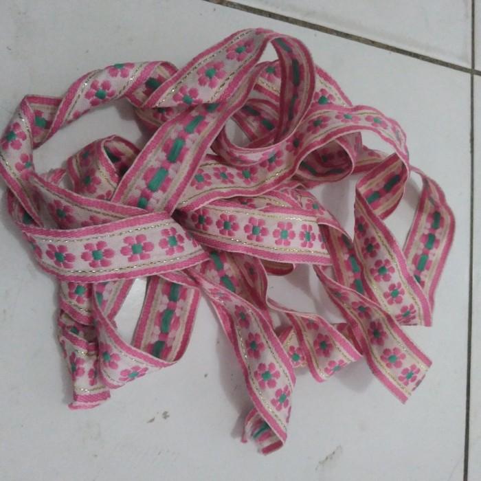 Jual Tali Webbing Motif Bunga Pink Lebar 2 5cm Per Meter Jakarta Pusat Michikosale Tokopedia