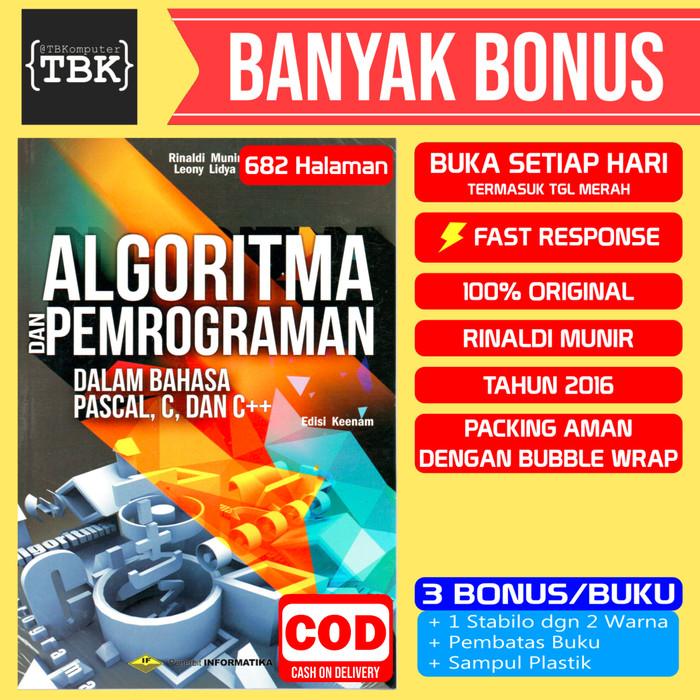 Foto Produk Buku Algoritma dan Pemrograman Edisi Terbaru - Rinaldi Munir dari Toko Buku Komputer BDG