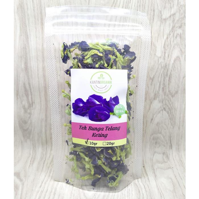 Foto Produk Teh Bunga Telang / Butterfly Pea Flower Tea / Blue Pea Flower Tea - 10gr dari Kantin Organik