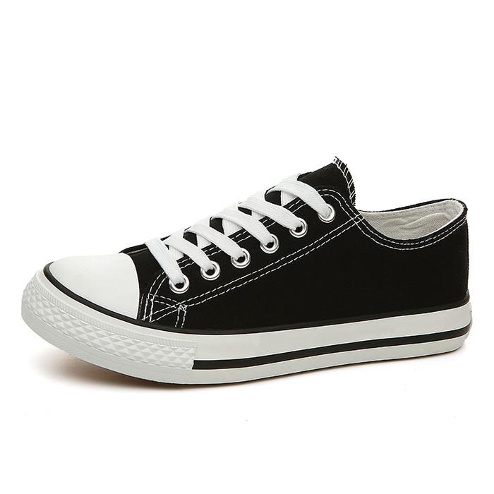 Foto Produk Techdoo Sepatu Sekolah Pria dan Wanita Sepatu Sport Formal Hitam MC303 - Hitam, 39 dari Techdoo