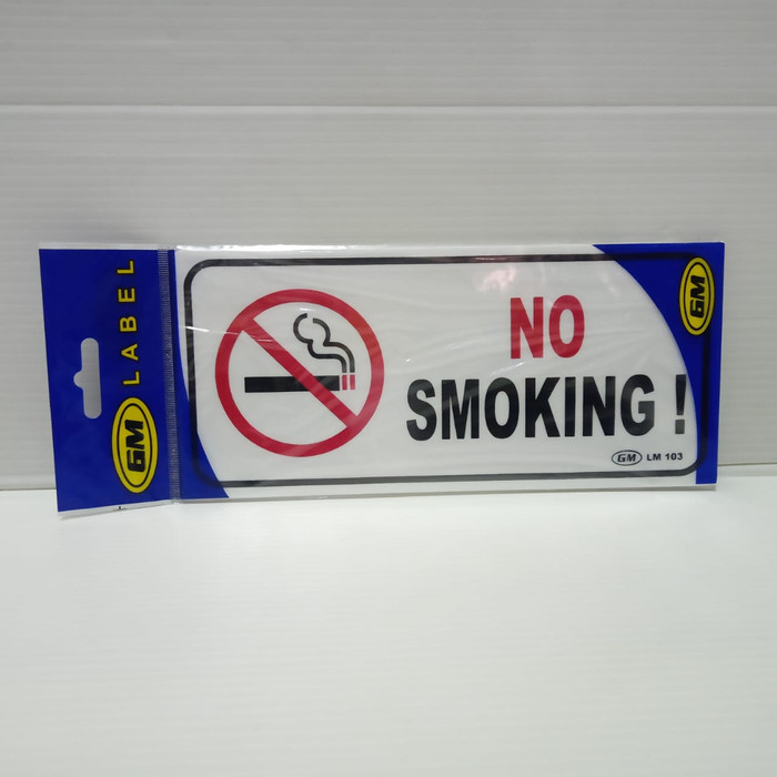 "Foto Produk Sign Label GM ""NO SMOKING"" LM 103 Uk. 9.5 x 21 cm dari officemart"