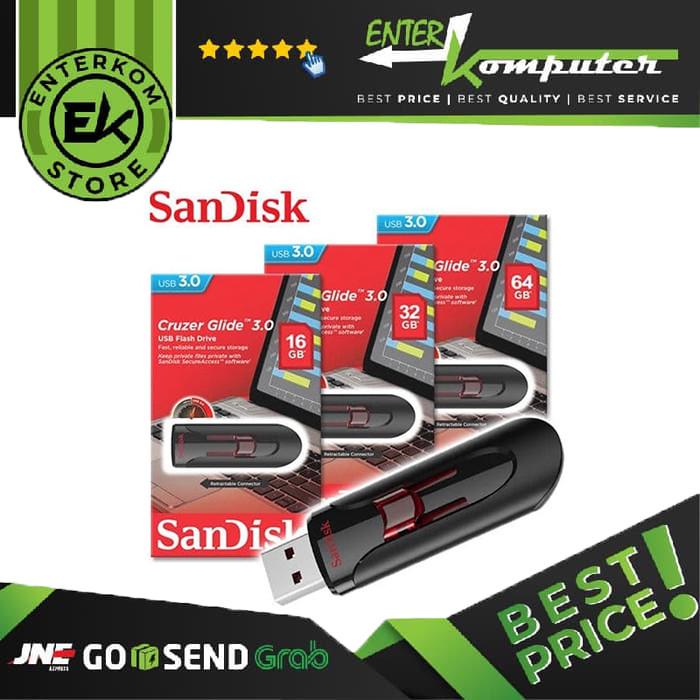 Foto Produk Sandisk Cruzer Glide CZ600 64GB USB 3.0 dari Enter Komputer Official