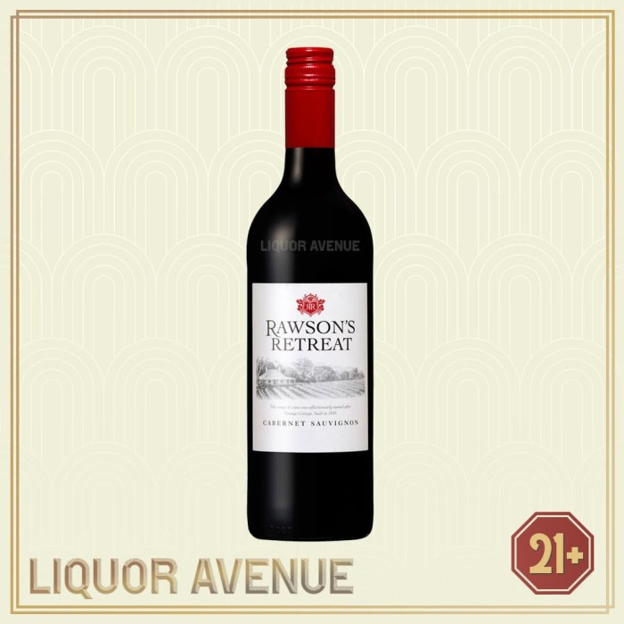 Foto Produk Rawson's Retreat Cabernet Sauvignon Australian Red Wine 700 Ml dari Liquor_Avenue