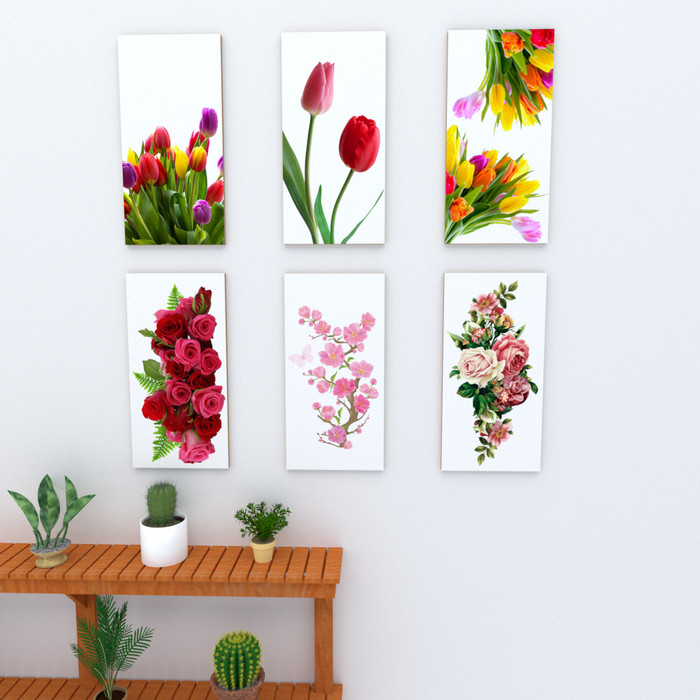 Jual Hiasan Dinding Ruang Tamu Bunga 15 X 30 Cm Walldecor Poster Ft 01 Kota Bandung Elwynn Quest Tokopedia