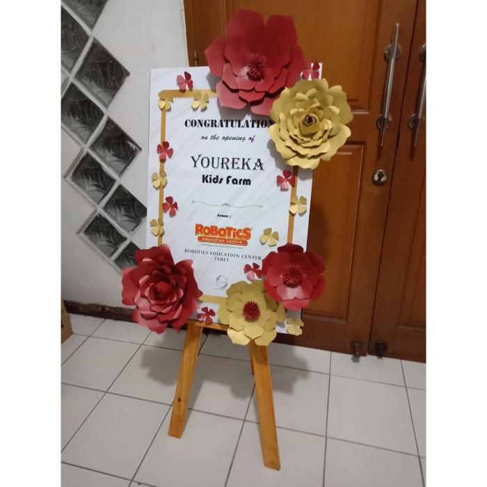 Jual Papan Bunga Kertas 80 X 60 Cm Merah Emas Jakarta Jakarta Barat Jaya Abadi Toko Listrik Tokopedia