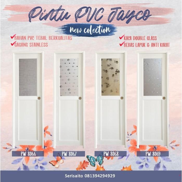 Foto Produk Pintu PVC Jayco Setengah Kaca Putih / Pintu Dekoratif dari serisaito