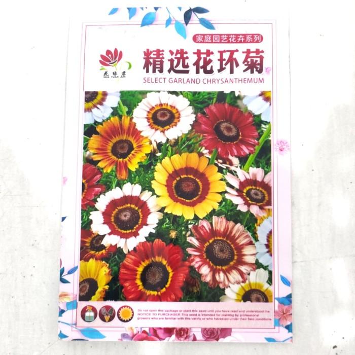 Foto Produk Biji Benih Bibit bunga Painted Daisy Chrysanthemum Mix retail pack dari Biji Benih