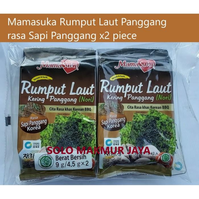 Foto Produk Mamasuka Rumput Laut Panggang Nori rasa Sapi Panggang isi 2 dari Solo Makmur Jaya