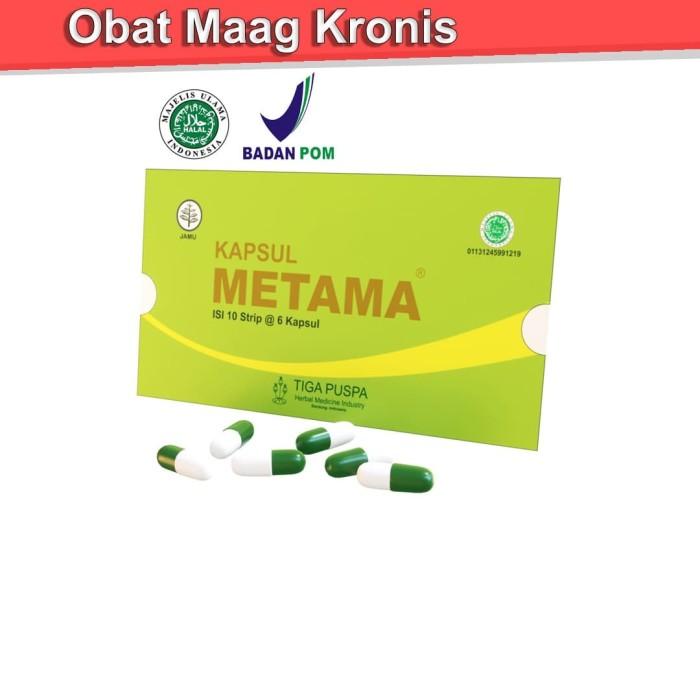 Foto Produk Obat Maag Kronis Herbal dari Metama 1 Strip/Amplop isi 6 Kapsul dari Lingshenyao(Obat Herbal)