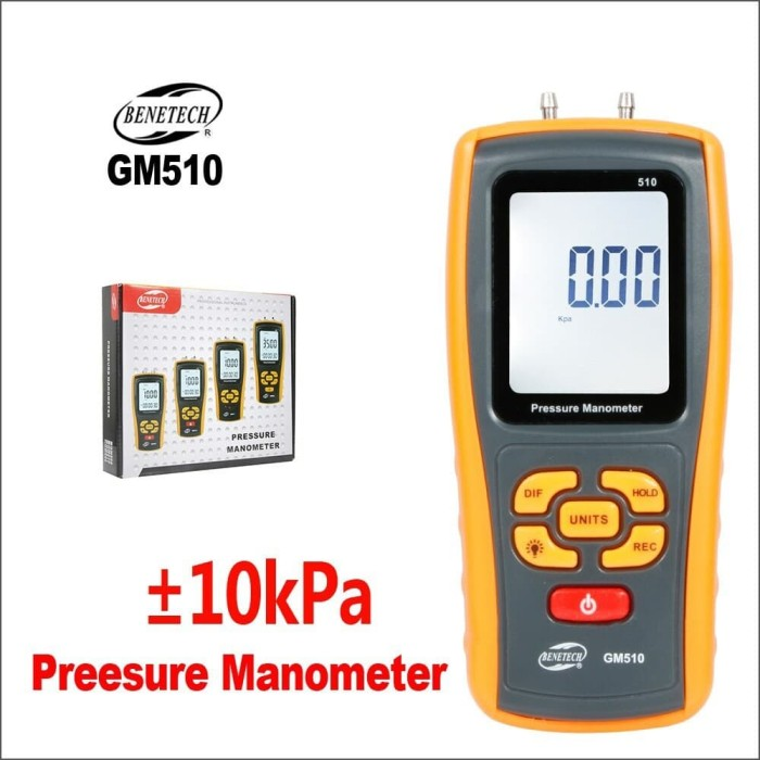 Foto Produk Manometer Benetech GM510 Pressure Gauge Digital Differential GM-510 dari HRDIK