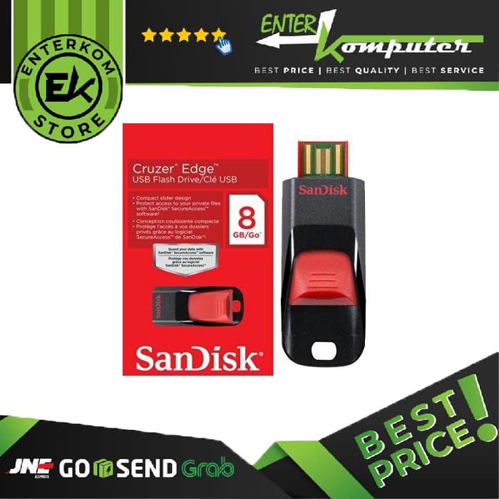 Foto Produk Sandisk Cruzer Edge CZ51 8GB dari Enter Komputer Official