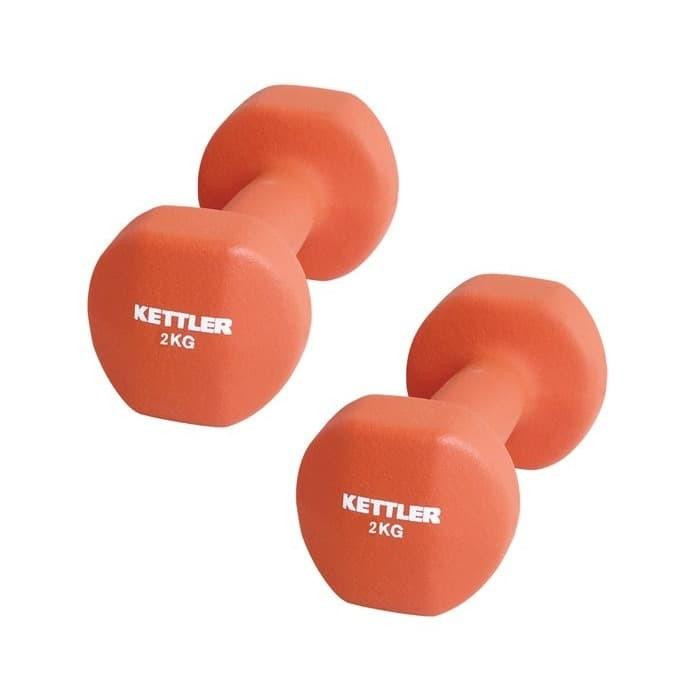 Foto Produk Dumbell Neoprene Kettler 4kg/pair - Barbel Neoprene Kettler 4kg/pair dari DNA Sport & Music