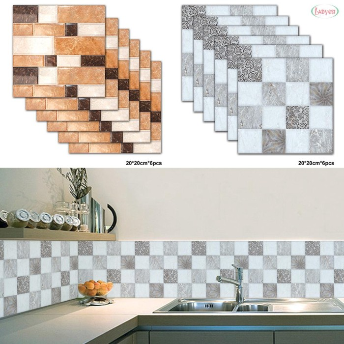 Jual Tile Sticker Waterproof Kitchen Tile Sticker Decal Self Adhesive Jakarta Pusat Beautystore 10 Tokopedia