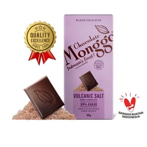Foto Produk Dark Chocolate & Volcanic Salt 80g| Chocolate Monggo | Cokelat Premium dari CHOCOLATE MONGGO
