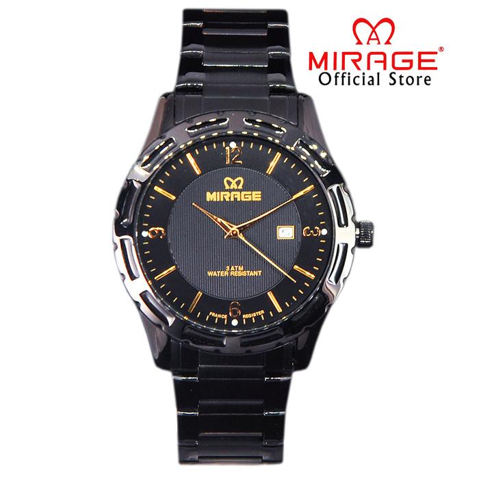 Foto Produk Jam Tangan Pria Full Black Keren Miragewatch Tahan Air Tanggal 8309M dari Mirage Watch