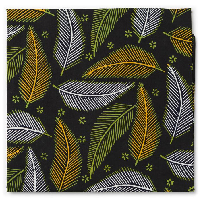 Foto Produk Kain Batik Cap Trusmi Motif Daun Kelapa - Hijau dari Kainusa