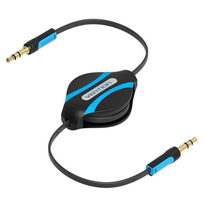 Foto Produk Kabel Audio Vention Male to Male 1M Retractable Audio Cable Aux 3.5mm dari PojokITcom Pusat IT Comp