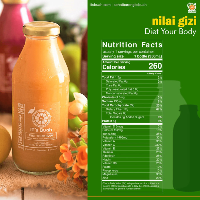Foto Produk Cold Press Juice Diet Your Body dari Its Buah