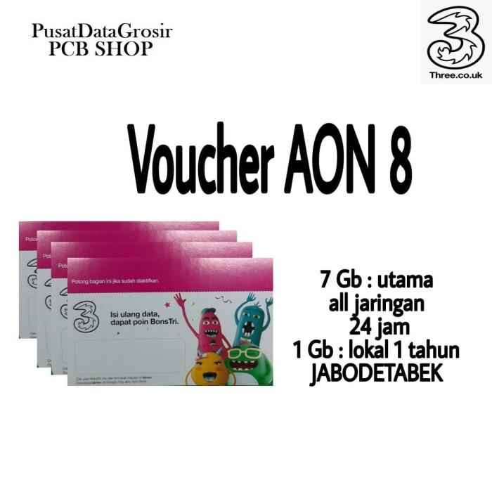 Jual Voucher Paket Data Tri Aon 8gb Jakarta Timur Pusatdatagrosirku Tokopedia