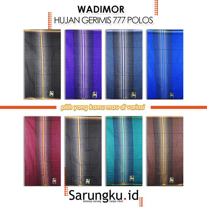 Foto Produk SARUNG WADIMOR HUJAN GERIMIS 777 POLOS - Cover dari SarungkuID