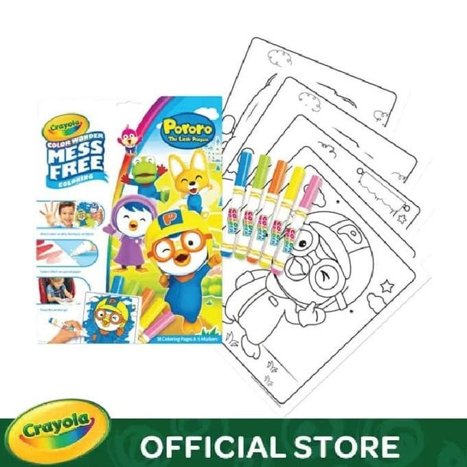 Jual Crayola Color Wonder Mess Free Coloring Pages Markers Pororo Jakarta Barat Adypuji385 Yahoocom Tokopedia
