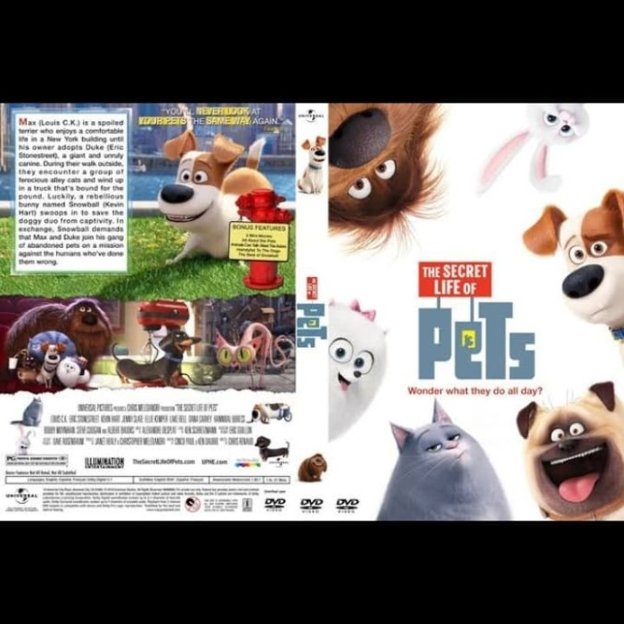 Jual Dvd Film Animasi The Secret Life Of Pets 2016 Jakarta Barat Passtilaku Store Tokopedia