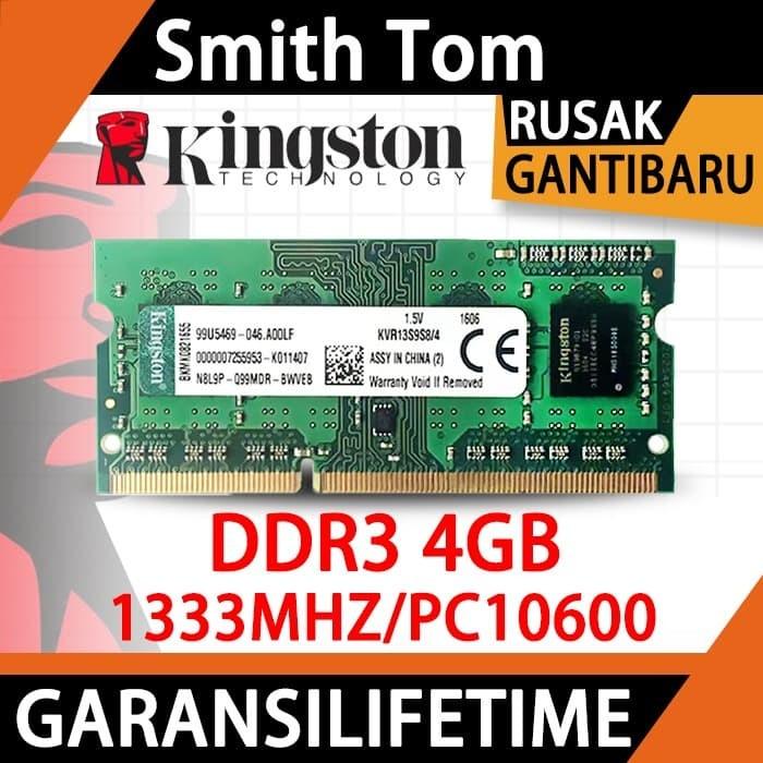Foto Produk Ram laptop kingston SODIMM 4GB DDR3 DDR3-1333 4G sodim dari Smith Tom