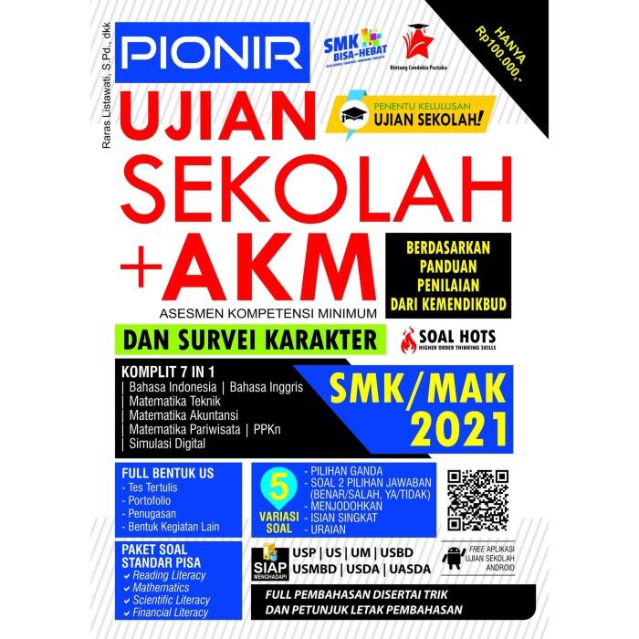 Promo Buku Pionir Ujian Sekolah Akm Survei Karakter Smk Mak 2021 Bcp Jakarta Pusat Edu Penguin Kompas Ilmu Tokopedia