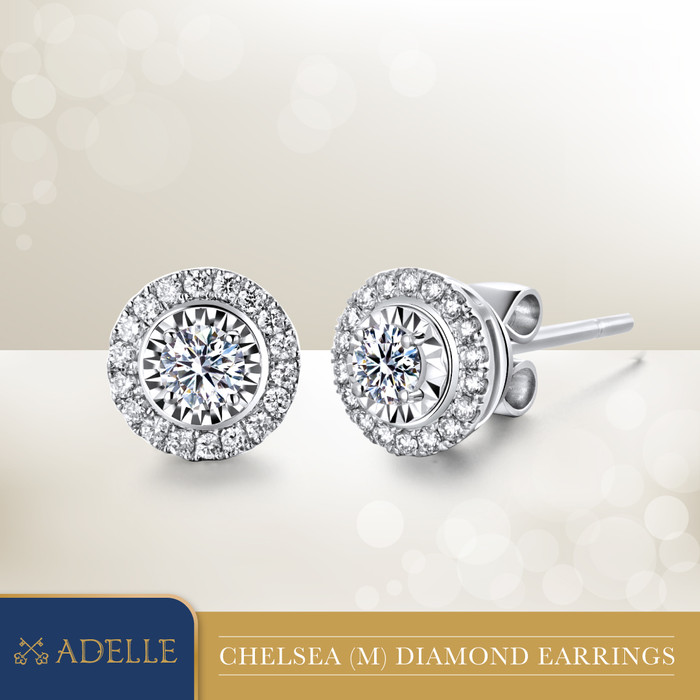 Foto Produk Anting Berlian - Adelle Jewellery - ADE1804009_CSB - White Gold dari Adelle Jewellery