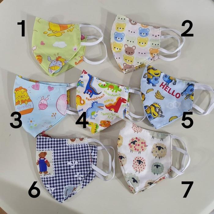 jual masker kain 2 ply untuk anak  korean style animasi