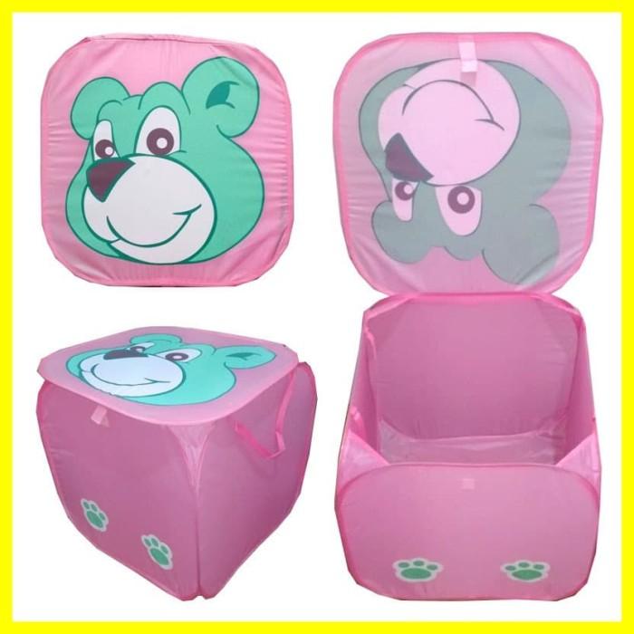 Foto Produk Tempat Keranjang Laundry Bag Cuci Baju Kotor Lipat Besar Jumbo Pink dari Iyesh Online Store