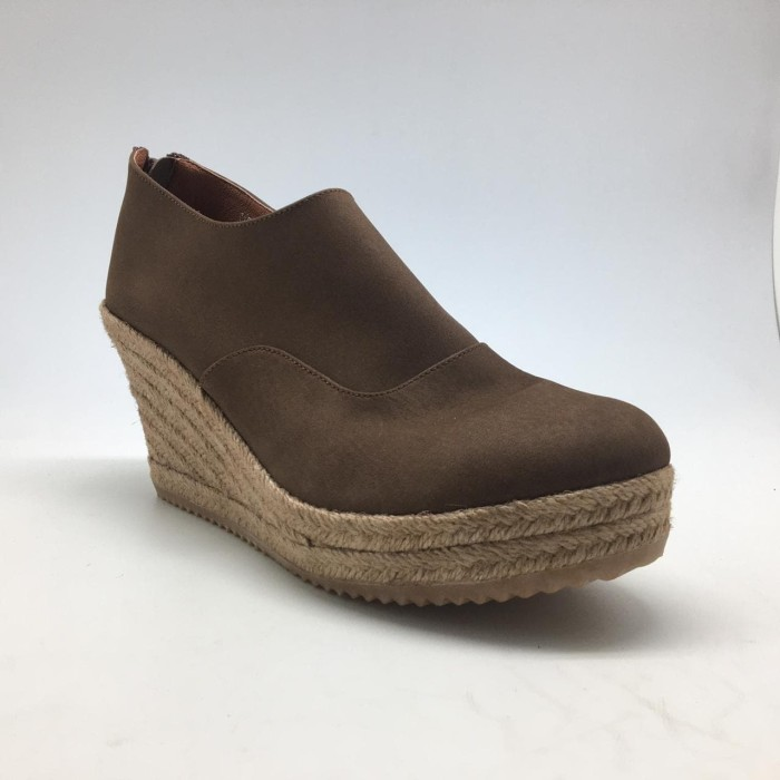 Foto Produk WEDGES Alyssa Espadrilles - Brown 7cm dari Natana Shoes